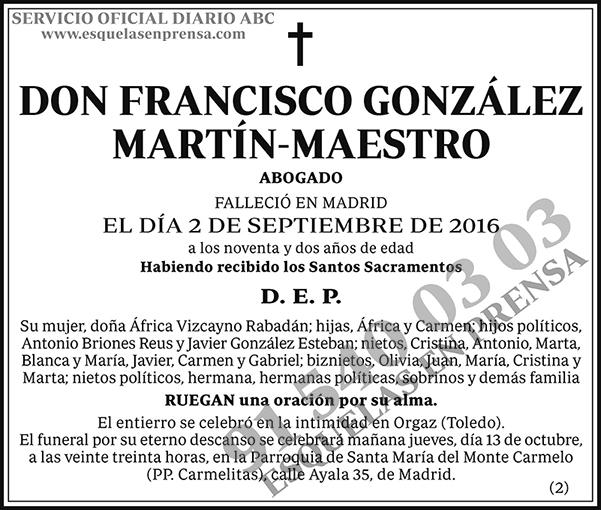 Francisco González Martín-Maestro